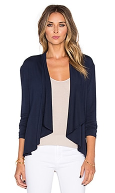 amour vert Pearl Cardigan in Navy