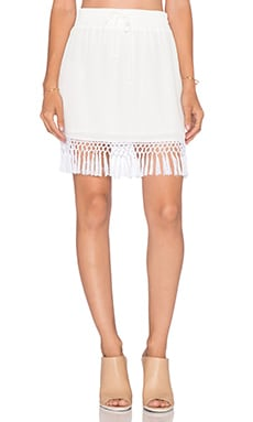 amour vert Chanel Skirt in White