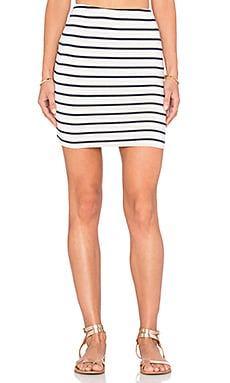 amour vert Anja Mini Skirt in Marine Stripe