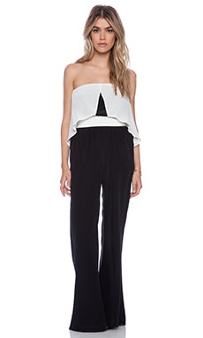 amour vert Honey Jumpsuit in Black & Ivory