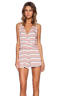 amour vert Joise Romper in Multicolor Stripe