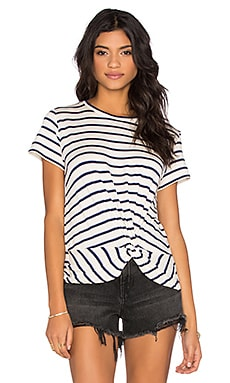 Paz Front Twist Tee in Marine Stripe