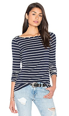 amour vert Francoise Tee in Basque Stripe