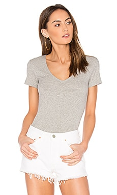 Eliza Tee in Heather Gray Rib