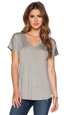 amour vert Liv Tee in Heather Grey