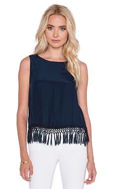 amour vert Shelly Tank in Navy