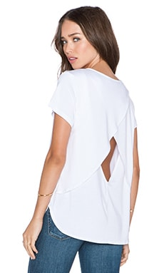 amour vert Tess Tee in White
