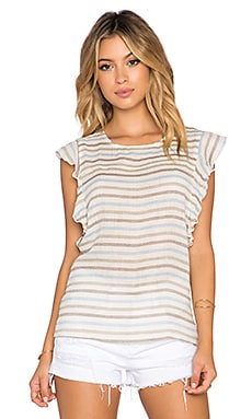 amour vert Delia Top in Blue Stripe