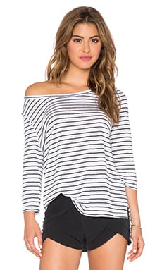 amour vert Peonie Top in St Tropez Stripe