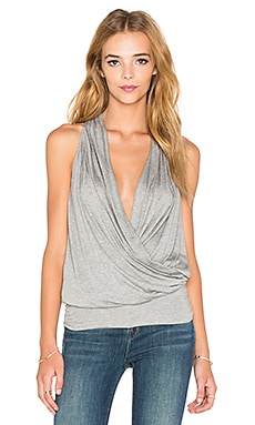 amour vert Agnes Top in Heather Grey