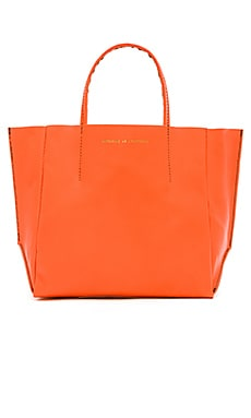 AMPERSAND AS APOSTROPHE Half Tote in Hot Orange