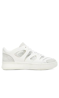Alexander McQueen Puma Move Lo in White Silver Metallic