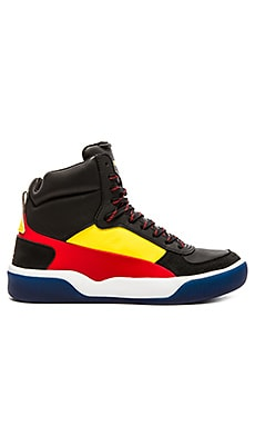 Alexander McQueen Puma McQ Brace Mid Flame Scarlet in Black Vibrant Yellow