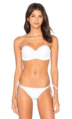 Entrelacados Bikini Top in Branco & Preto