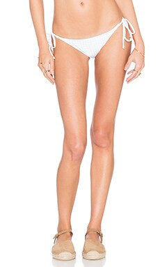 AMIR SLAMA Vichy Ponto Cruz Bikini Bottom in Azul Nanai