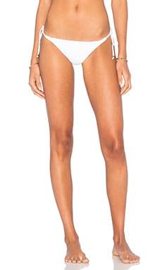 Entrelacados Bikini Bottom in Branco & Preto