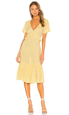 Scarlett Short Sleeve Midi Dress AMUSE SOCIETY $95