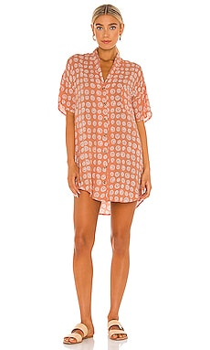 Fortune Teller Short Sleeve Button Up Dress AMUSE SOCIETY $60 NEW