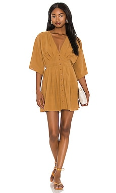 Sandalwood Woven Mini Dress AMUSE SOCIETY $66