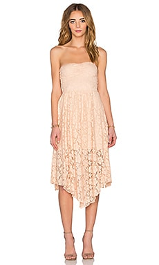 AMUSE SOCIETY Lima Dress in Peach