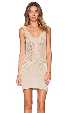 AMUSE SOCIETY Tribe Dress in Oatmeal Heather