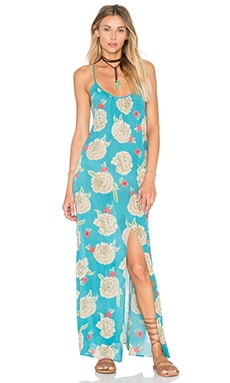 AMUSE SOCIETY Aryia Maxi Dress in Ocean