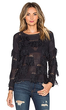 AMUSE SOCIETY Upland Sweater in Black Sands
