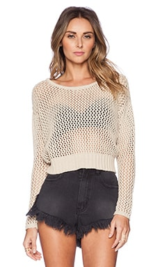 AMUSE SOCIETY Coastal Sweater in Oatmeal Heather