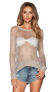 AMUSE SOCIETY Alyssa Sweater in Metallic Silver