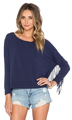 Emma Fleece Sweatshirt en Faded Indigo