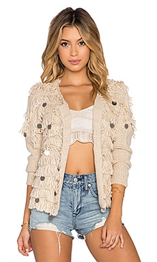 AMUSE SOCIETY Sunday Cardigan in Shell