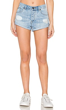 AMUSE SOCIETY Crossroad Short in Faded Indigo