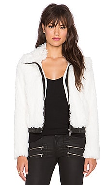 AMUSE SOCIETY Chandler Faux Fur Jacket in Casa Blanca