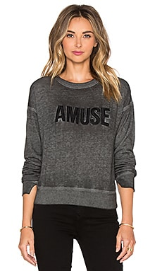AMUSE SOCIETY Iconic Sweatshirt in Gunmetal