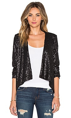AMUSE SOCIETY Avenew Jacket In Metallic Black