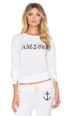 AMUSE SOCIETY Anchors Away Sweatshirt in Casa Blanca