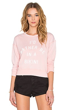 AMUSE SOCIETY I'd Rather Sweatshirt in Light Rose
