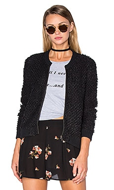 Lafayette Sweater Jacket en Black Sands
