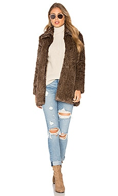 Cam Faux Fur Jacket en Marron
