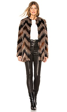 Waylon Faux Fur Jacket AMUSE SOCIETY $205