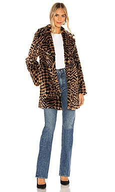 Vera Faux Fur Coat AMUSE SOCIETY $48 (FINAL SALE)