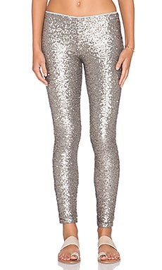 AMUSE SOCIETY Charley Legging in Metallic Silver