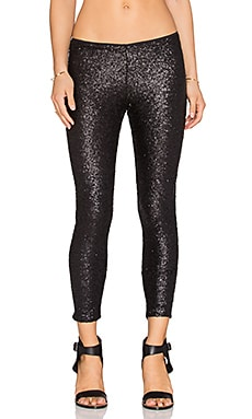 AMUSE SOCIETY Charley Pant in Metallic Black