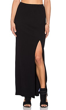 AMUSE SOCIETY Farron Skirt in Black Sands