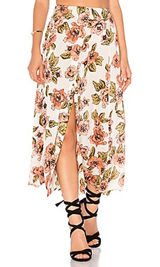 AMUSE SOCIETY Bombay Maxi Skirt in Casa Blanca
