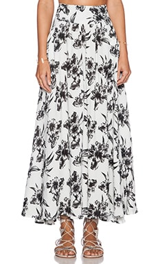 AMUSE SOCIETY Lexi Skirt in Aloha White