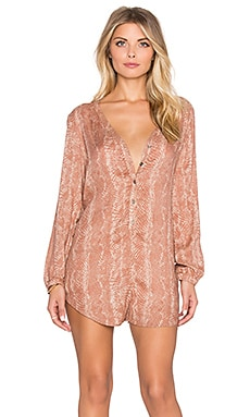 AMUSE SOCIETY Roxane Romper in Moccasin
