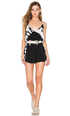 AMUSE SOCIETY Sundaze Romper in Black Sands