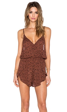 AMUSE SOCIETY Haven Romper in Henna