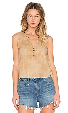 AMUSE SOCIETY Marielle Tank in Faded Olive